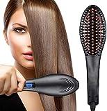 Wazdorf Hair Electric Comb Brush 3 in 1 Ceramic Fast Hair Straightener For Women