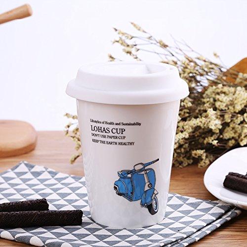 La personalidad creativa Mugcap taza de café Continental Jarra de cerámica con...