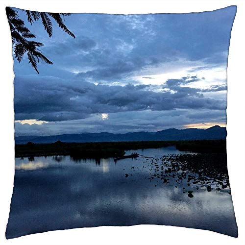 LESGAULEST Throw Pillow Cover (18x18 inch) - Myanmar Burma Asia Travel Tourism Landscape
