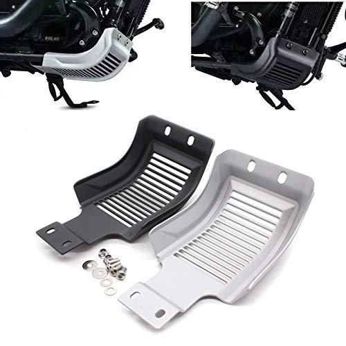 QOHFLD Protector de Cubierta de chasis de Motor de Bastidor de Deslizamiento de Motocicleta Negro Plateado, para Harley Sportster Roadster XL883N Personalizado XL1200C X48 2004-2019