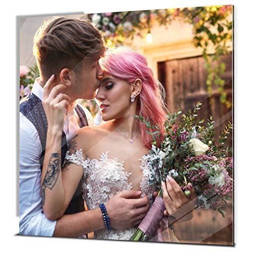 wandmotiv24 Ihr Foto auf Acrylglas - 1-teilig - Quadratisch 20x20cm (BxH), SOFORT ONLINE VORSCHAU, personalisiertes Glasbild mit Wunsch-Motiv, eigenes Bild als Wandbild, Fotogeschenke, Geschenk
