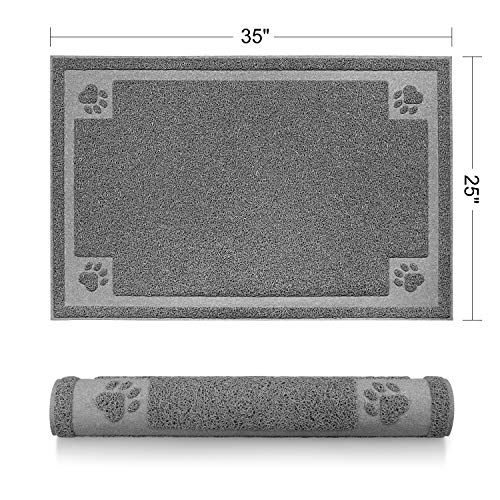 STELLAIRE CHERN Pet Feeding Mat for Large Dogs and Cats 35 x 25 Inches Flexible and Waterproof Dog...