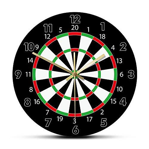 Wanduhr Modernes Design Dartscheibe Gedruckte Wanduhr Bar Darts Spiel Night Club Spielzimmer Dekoration Pfeil Ziel Ziel Spiel Bullseye Watch