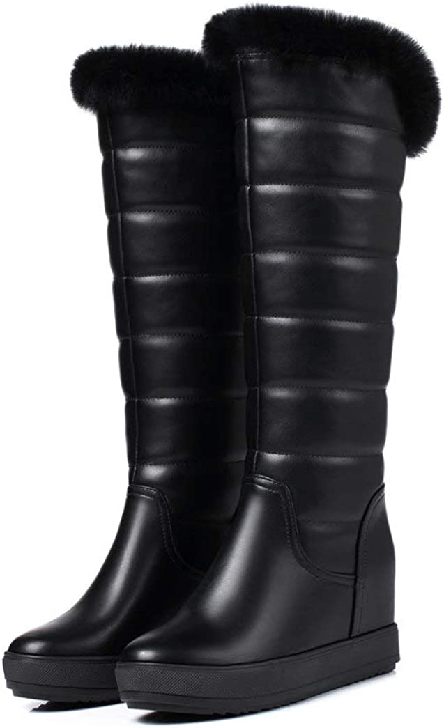 JOYBI Limited time for free shipping Women Platform 70% OFF Outlet Knee High Boots Height Fur Faux Waterproof