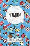 Bermuda Diario di Viaggio: Pianificatore di viaggio I Pianificatore di viaggio su strada I Diario a griglia a punti I taccuino I Diario tascabile I Regalo per Backpacker