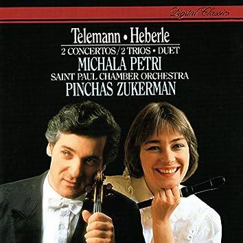 Telemann: Concerto In A minor; Duet In C; Trio Sonatas / Heberle: Recorder Concerto In G