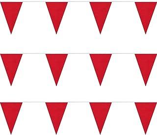 FlagandBanner Red Heavy Duty String Pennants (100 ft.)