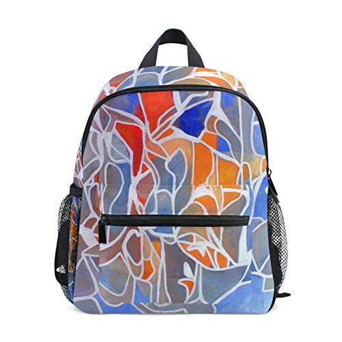 Pittura Arte Astratta Zaino per Asilo Nido Prescolare Bambini Studente Bookbag Zainetti per Viaggio Ragazze Ragazzi 2-7 Anni Capretto