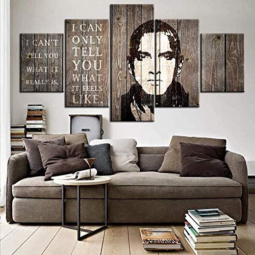 Thznmg Lienzo De Pintura Decorativa 200X100 Cm/ 78.8'X 39.4'American Rapper Actors Pictures For Decor Paintings Wall Art-5 Panel Canvas Modern Tablero De Madera Obra De Arte Decoraciones Para El Hogar