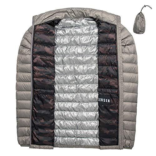 ダウンジャケット メンズ 軽量 ウルトラライトダウン 体熱反射 ダウンコート アウトドア 防寒 暖かい 登山 春秋冬 アウター (3L, グレー)