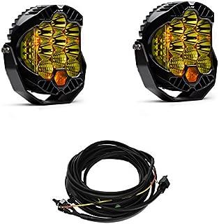 Baja Designs Pair LP9 Amber LED Driving/Combo Lights & Harness Kit