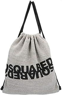 DSQUARED2 - Bolsa de tela con logotipo gris Melange unisex Ss 2020