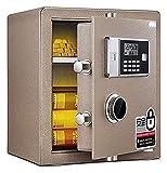 Cajas fuertes y hucha, cajas de seguridad para el hogar, caja fuerte electrónica de acero con teclado, 2 llaves de...