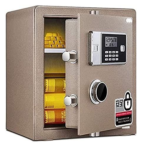 Cajas fuertes y hucha, cajas de seguridad para el hogar, caja fuerte electrónica de acero con teclado, 2 llaves de anulación manual, protegen el dinero, pasaportes, para el hogar, caja para esconder