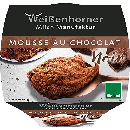 Weißenhorner Milch Manufak Bio WH MM Bioland Mousse au chocolat noir (6 x 80 gr)