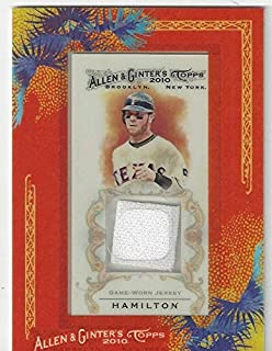 Josh Hamilton Framed Mini Tobacco Sized Game Worn Jersey Baseball Card - 2010 Topps Allen & Ginter Baseball Card # AGR-JH (Texas Rangers) Free Shipping