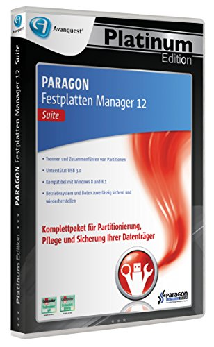 Paragon Festplatten Manager 12 Suite - Avanquest Platinum Edition