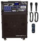VocoPro All-in- One Portable Karaoke System, Champion-Rec-200W 4-Ch PA w/Digital rec, 21.00 x 21.00 x 23.00 (CHAMPIONRECBASIC)