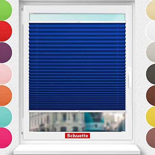 Schuette® Estor plisado con agujeros para atornillar. Colección Premium: Deep Lagoon (azul)....