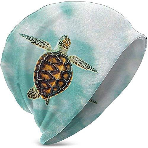 Unisexe Bonnet Bonnets Bébé Tortue Nager dans l'eau Bleue Imprimé Chapeau en Tricot Crâne Cap Été Chaud Chapeaux pour Filles Garçons