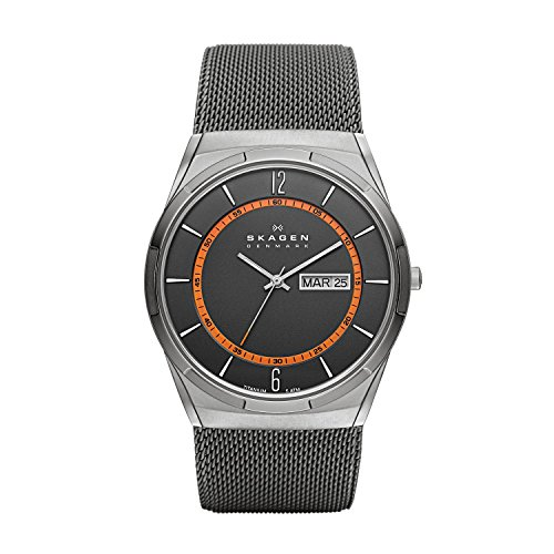 Skagen Herren Analog Quarz Uhr mit Edelstahl Armband SKW6007