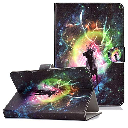 Universal Case for 6-7 inch Tablet, Coopts Wallet Stand Case for Samsung Galaxy Tab A 7.0/Tab E Lite/Tab 3 Tab 4 7.0,Kindle Paperwhite 2018 2016 2015,RCA Voyager 7',Google Nexus 7, Halo Deer