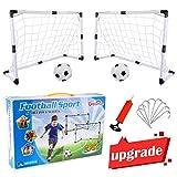 Dreamon Cage de Football Lot de 2 Buts de Football et Balle d'enfants, Jouet de Sport pour...