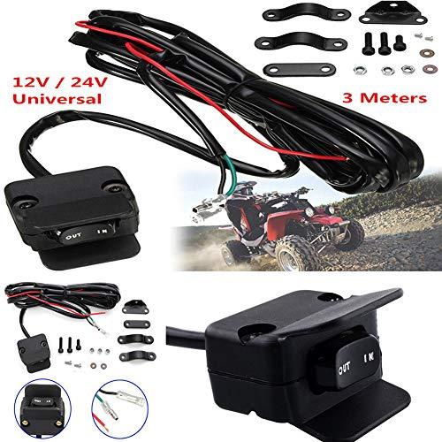 MeterMall 3 Meter Motorrad ATV/UTV Seilwinde Wippschalter Lenkersteuerungskabel Warn-Zubehör
