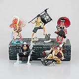 CXNY 5pcs / Set 7-10cm One Piece Luffy Figura de acción Colección de PVC Modelo de Juguetes brinquedos