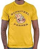 Hariz - Camiseta para hombre, diseño de granjero, incluye tarjeta de regalo dorado amarillo XXL