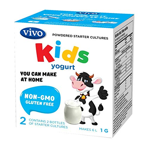 VIVO KIDS Yogurt Starter Cultures/Natural (5 boxes) Makes up to 30 quarts of yogurt