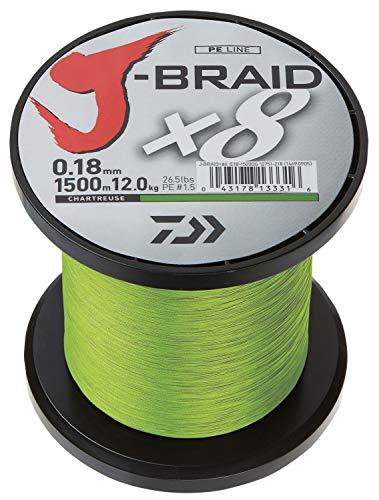 Daiwa J-Braid X8 0,13mm 8Kg 1500m Chartreuse Geflochtene Schnur