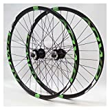 Yuanfang Nue MTB Wheel Set 26/27.5 / 29inch Lega di Alluminio Rim Cassette Freno a Disco rapido Supporto Rilascio 8/9/10 di velocità Marchio Verde (Coppia Ruote) CN (Size : 29')