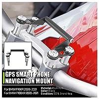 オートバイ 黒 GPS マウント モバイル 電話 ナビゲーション ブラケット スタンド マウンティング ホルダー 12mm BMW F900XR F900R F 900R F 900XR F 900 R XR バイク部品 2020 2021 20 21 に適用
