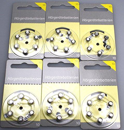 Lot de 36 piles pour appareil auditif - Taille 10