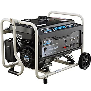 Pulsar PG3500M Portable Gas-Powered 3,500W Generator with Mobility Kit