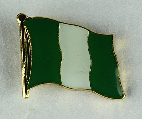 Nigeria Pin Anstecker Flagge Flaggenpin Fahne Fahnenpin Button Clip