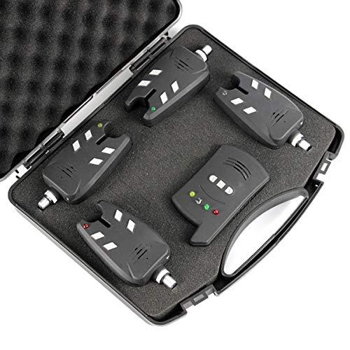Danping Juego de Alarma inalámbrico de mordida de Pesca con Receptor 1 + 4 Juego de señal de Alarma LED Tackle Carp