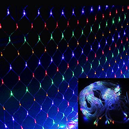 HJ® 3 m * 3 m Net Lichter 300 LED Lichternetz Weihnachtslichterkette Dekorative Lichterkette IP44 RGB