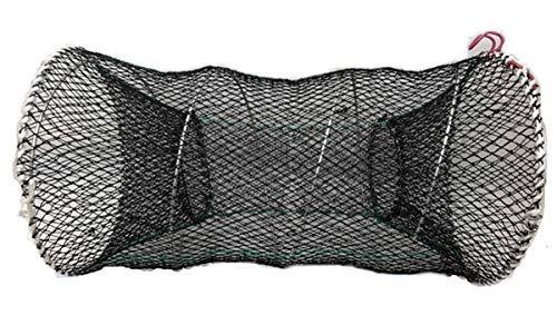 Pogah Folding Fish Trap Fishing Net - Mesh Collapsible Cast Landing Bait Net for Crab Shrimp Minnow Crawfish Catfish (Large/11.8inch)