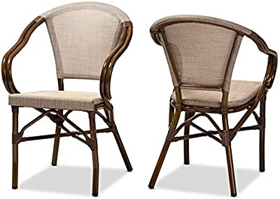 Amazon.com - Festnight Set of 4 Dining Chairs Natural Rattan ...