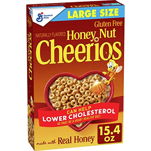 Honey Nut Cheerios, Cereal with Oats, Gluten Free, 15.4 oz