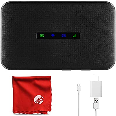 ZTE MAX Connect Unlocked Mobile WiFi Hotspot 4G LTE GSM Router MF928, Up to 150Mbps Download Speed, Connect Up to 10 Devices, Create a WLAN Anywhere Bundle with Microfiber Cloth