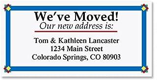We've Moved New Address Border Address Labels - Set of 144, 1-1/8 x 2-1/4 Self-Adhesive, Flat-Sheet labels, Just Moved Labels, New Address Labels, Moving Announcement labels
