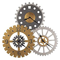 Howard Miller Cogwheel II Gallery C Wall Clock, Multi
