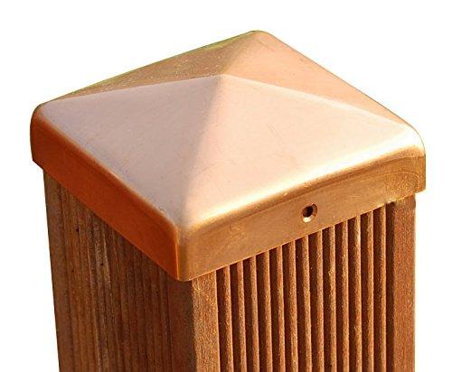 PROFISHOP-BREMEN Pfostenkappen Kupfer Pyramide für Pfosten 12x12 cm, inkl. Kupfer-Nägel