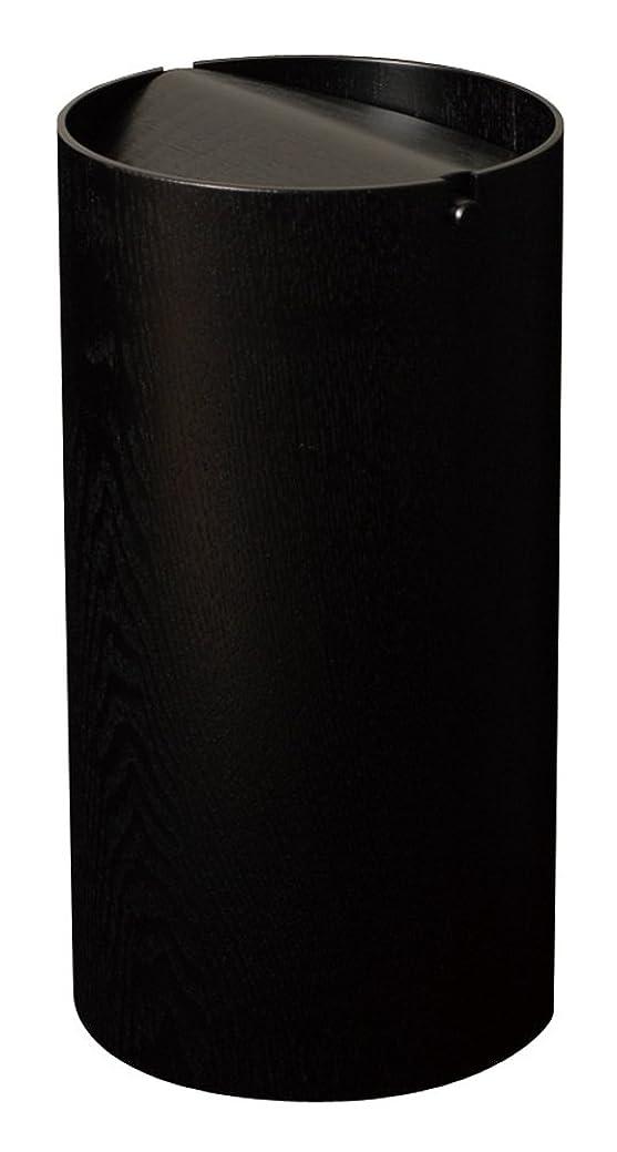 電圧侵入ふつうSAITO WOOD ごみ箱 ダストボックス 回転蓋 スリム B970A 8L ブラック