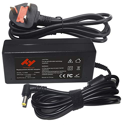 TAYINPLUS 19V 3.42A 65W Laptop charger for Acer Aspire E15 E5 F5 F15 E1 ES1 V5 Notebook AC Power Adapter(5.5x1.7mm)