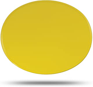 Maier USA Vintage Oval MX Number Plate - Yellow - 509924