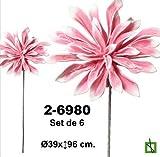 DONREGALOWEB Set de 6 Flores de Goma Eva en Color Rosa
